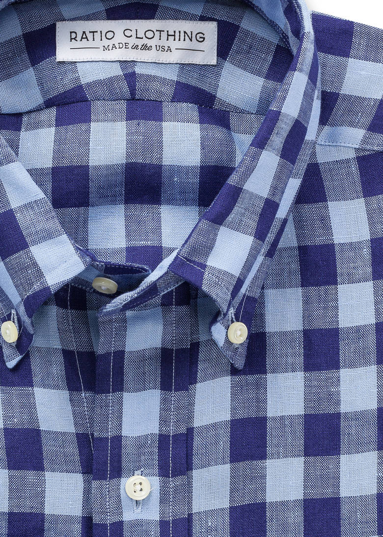 Gingham Blues Linen