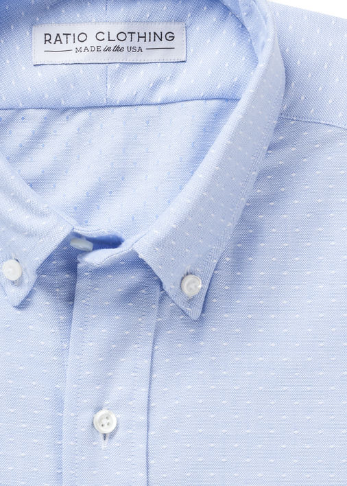 Light Blue Dot Oxford