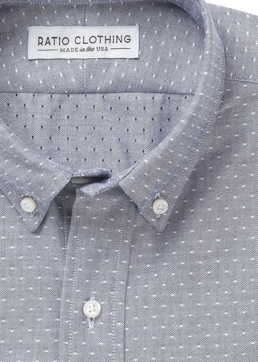 Image for Navy Dot Oxford
