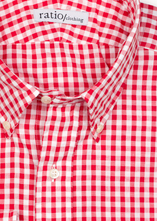 Image for Red Gingham Seersucker