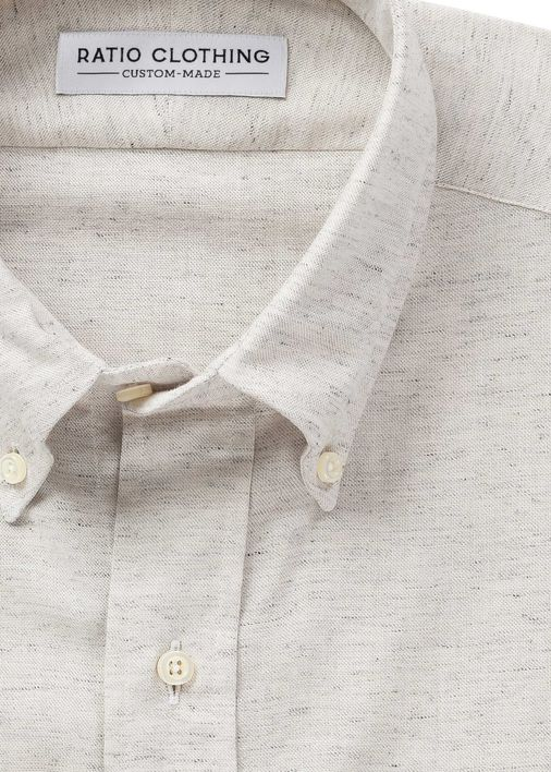 Image for Oatmeal Linen Mélange Chambray