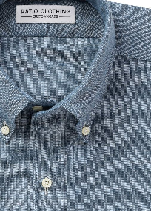 Image for Blue Linen Mélange Chambray