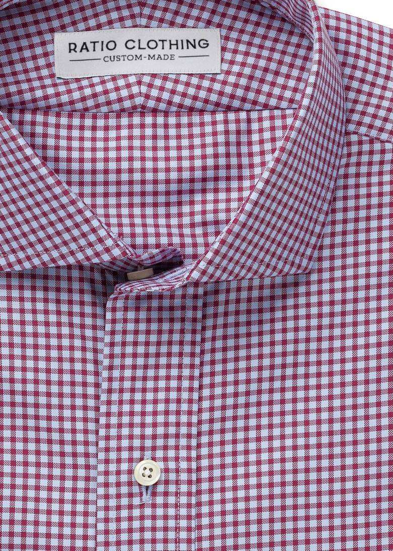 Light Blue and Berry Walden Gingham