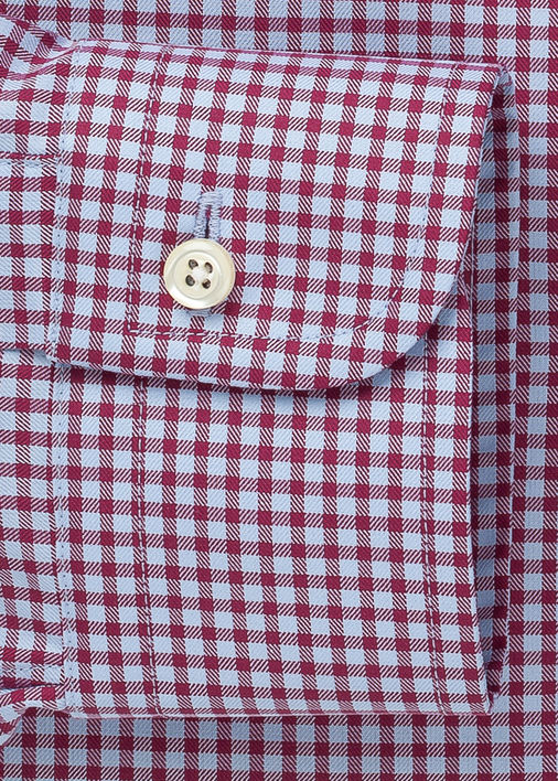 Light Blue and Berry Walden Gingham Product Image 4