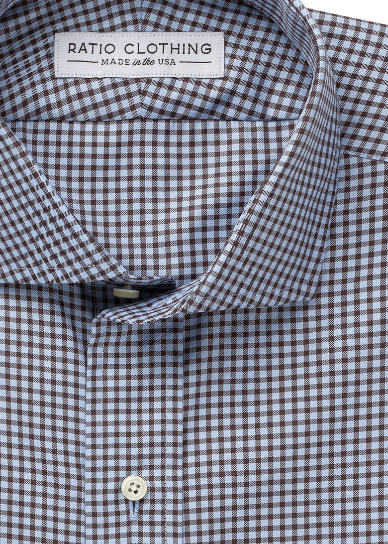 Light Blue and Brown Walden Gingham