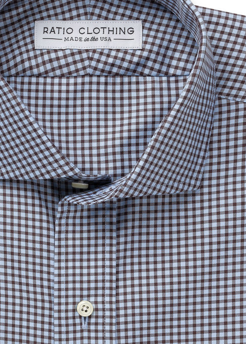 Image for Light Blue and Brown Walden Gingham
