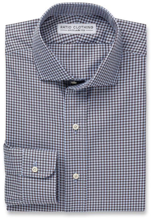 Light Blue and Brown Walden Gingham Product Image 3