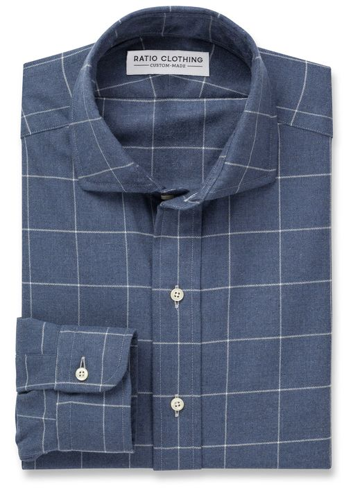 Slate Blue Carson Windowpane Product Image 2