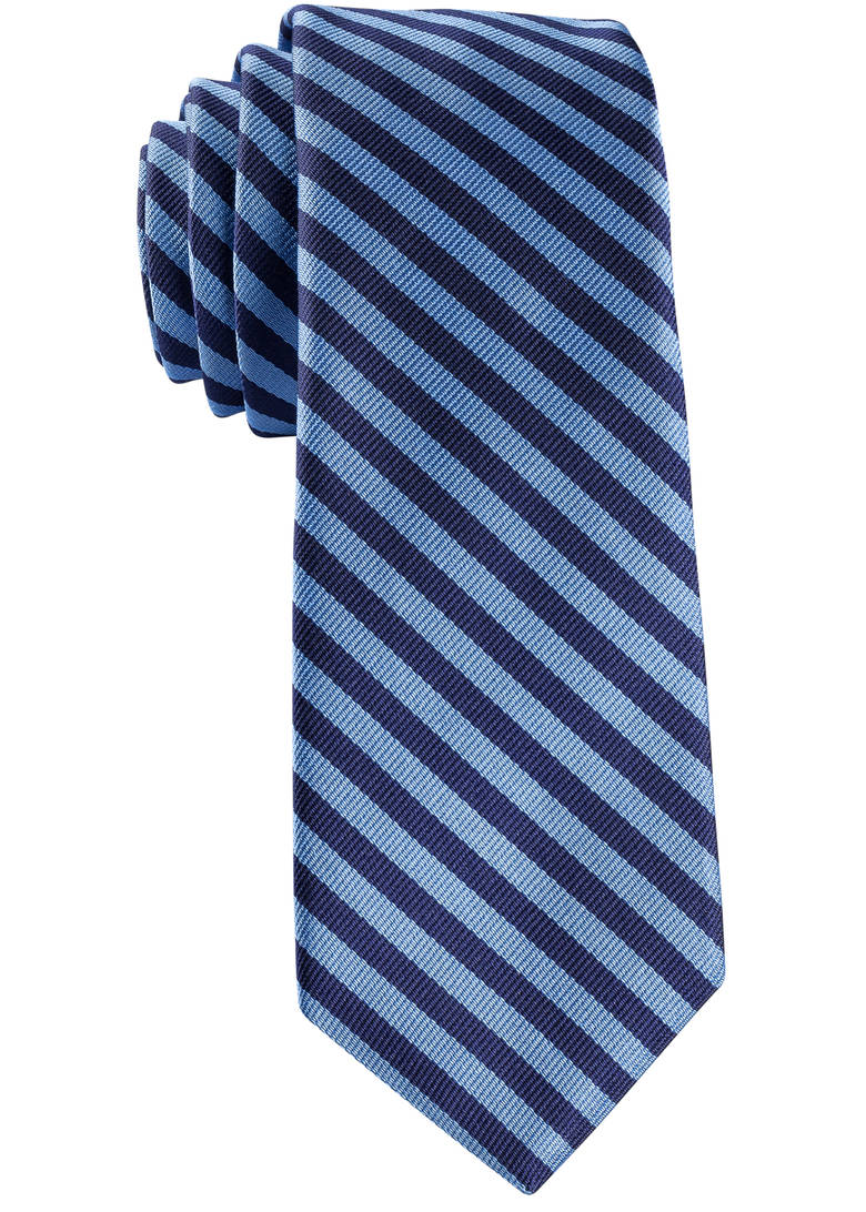Navy and Light Blue Repp Tie