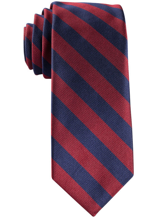 Navy and Burgundy Repp Tie