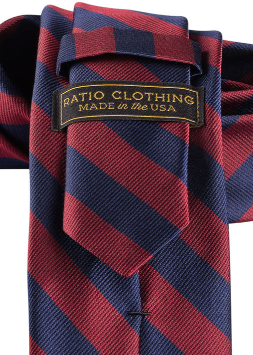 9f081b04df8f Navy and Burgundy Repp Tie - Ratio Clothing