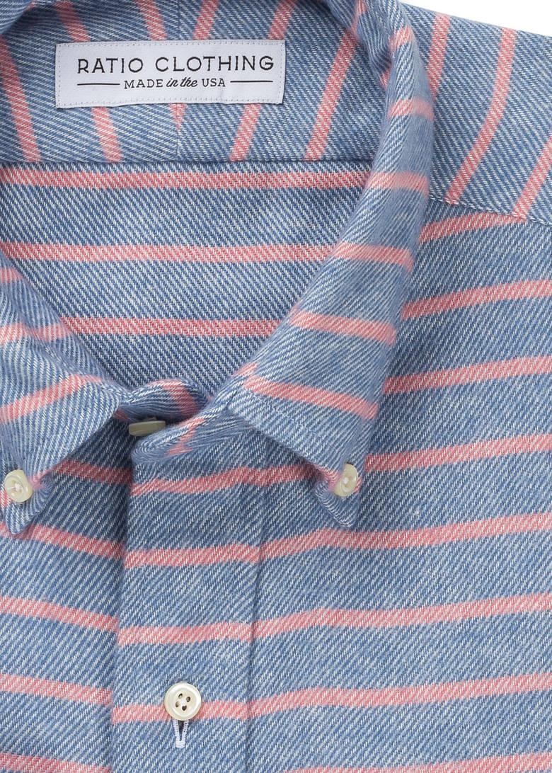 Blue and Pink Big Sur Flannel