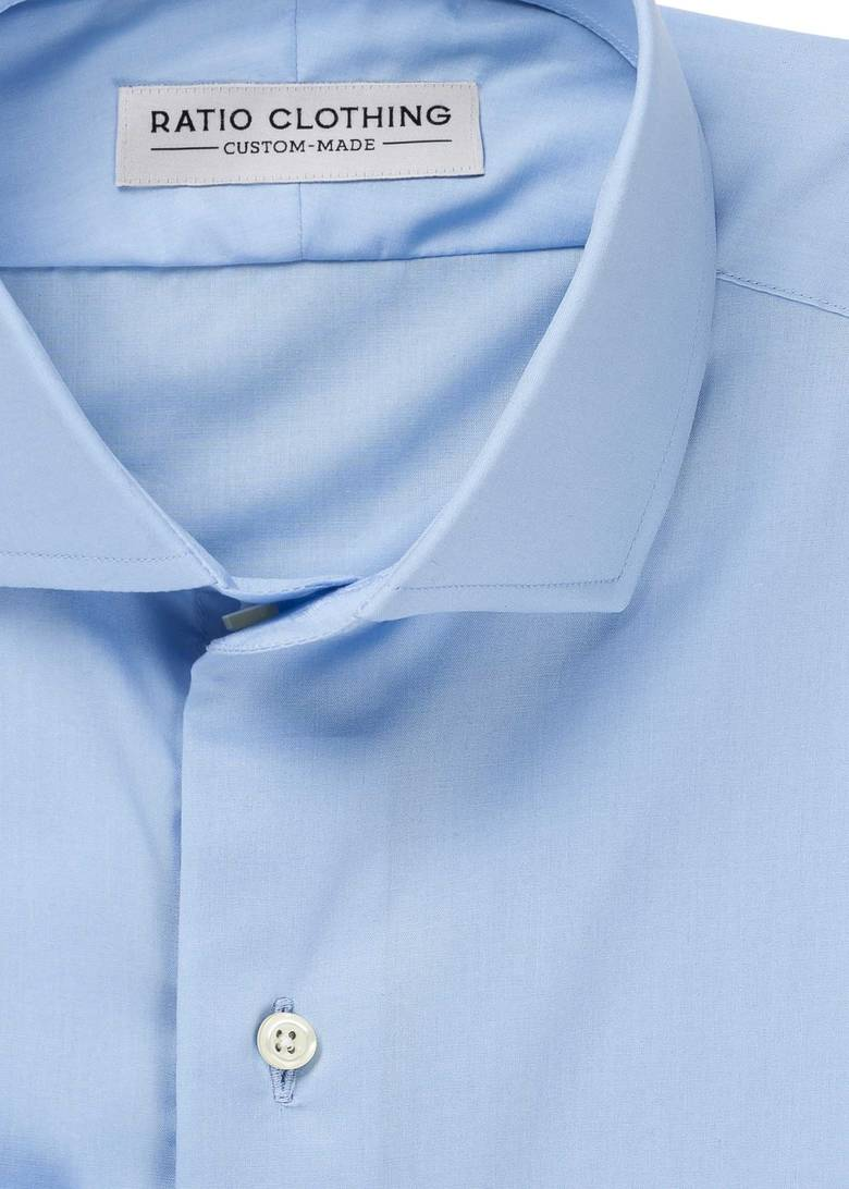 Blue Natural Stretch Poplin