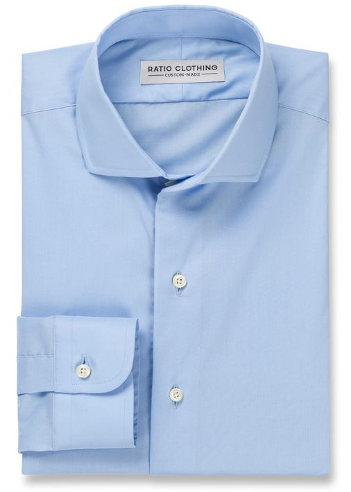 Blue Natural Stretch Poplin Product Image 3