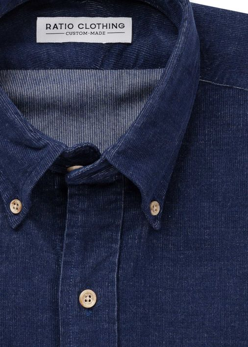 Image for Navy Melange Corduroy