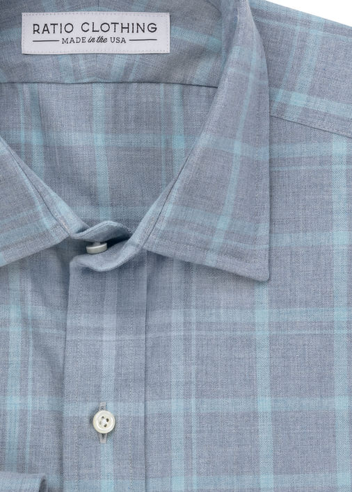 Image for Turquoise Santa Fe Plaid
