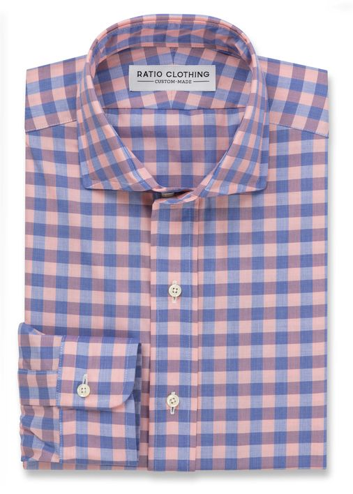 Peach and Blue Bryce Gingham Product Image 2