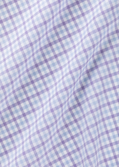 Zephir Light Blue and Violet Gingham Product Image 4