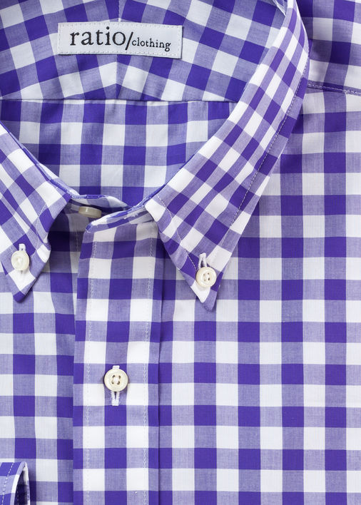 Purple Thomas Mason Gingham