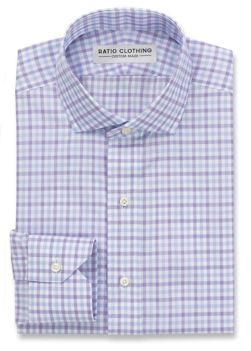 Zephir Light Blue and Violet Gingham Product Image 2