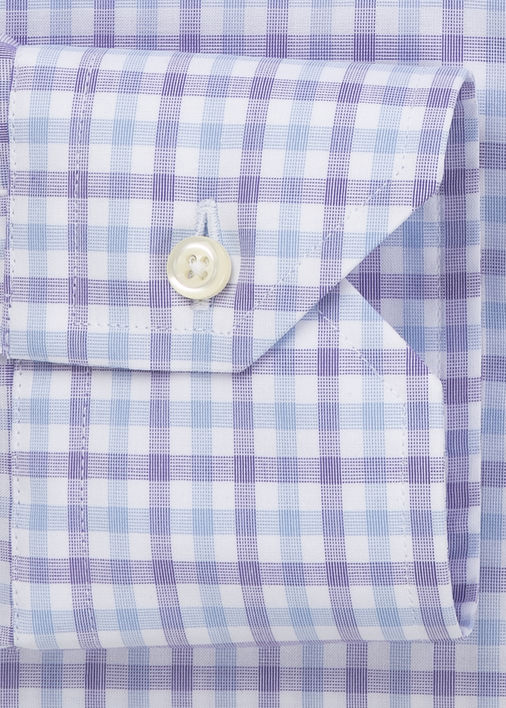 Zephir Light Blue and Violet Gingham Product Image 3