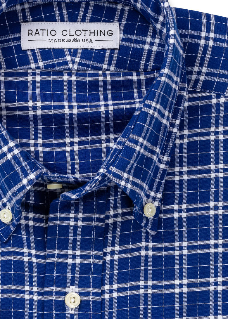Thatcher Cobalt Peached Plaid
