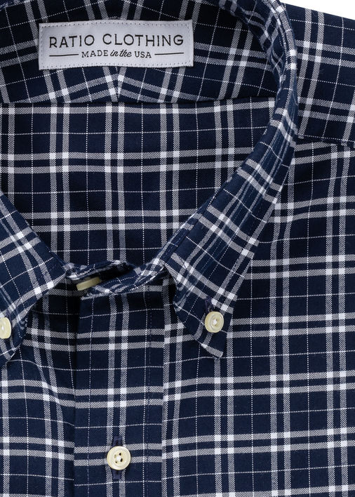 Thatcher Navy Peached Plaid