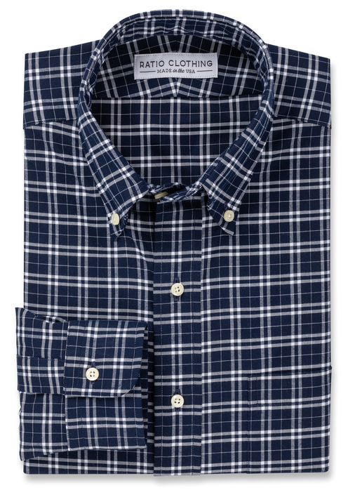 Thatcher Navy Peached Plaid Product Image 2