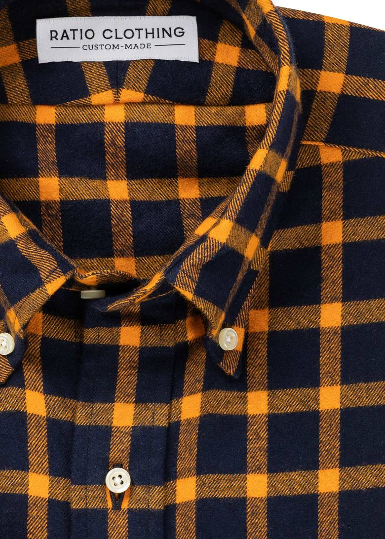 Briggs Gold Check Flannel