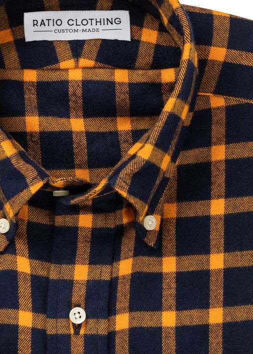 Image for Briggs Gold Check Flannel