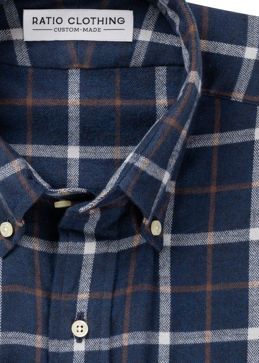 Image for Orson Navy + Tobacco Flannel
