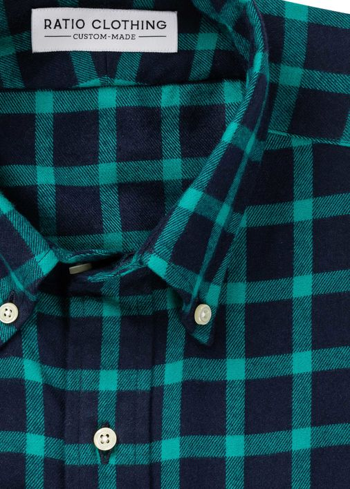 Image for Briggs Emerald Check Flannel
