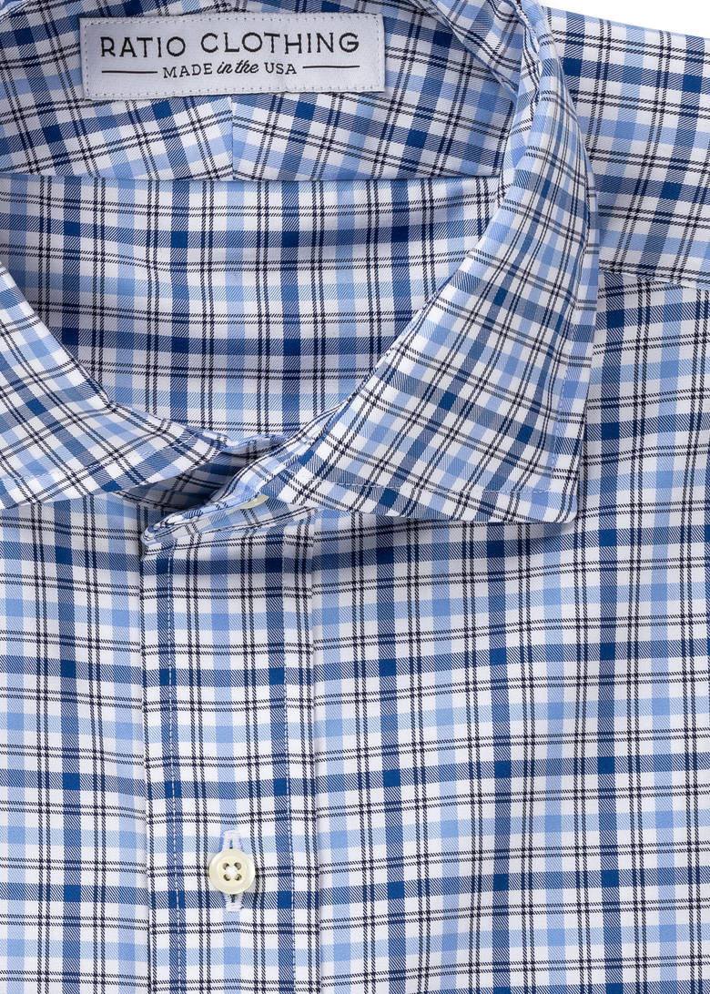 Blue Graham Plaid