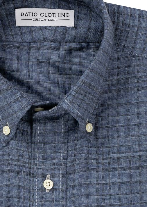 Image for Yates Blue Melange Plaid