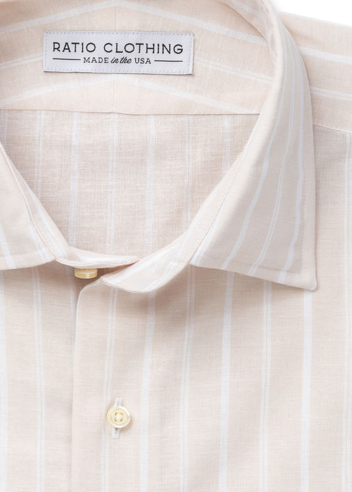Sand Yuma Cotton Linen Stripe