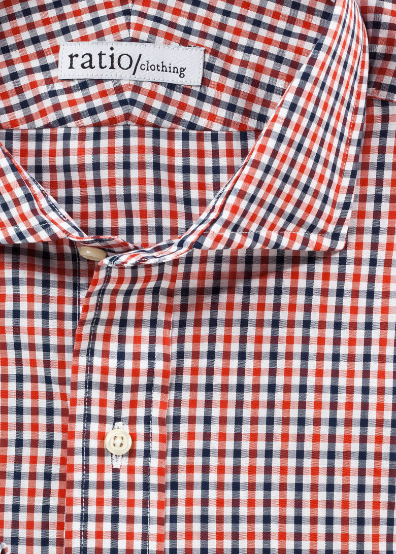 Red and Navy Mini-Gingham