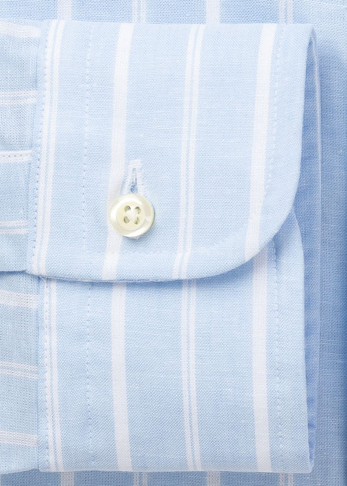 Light Blue Yuma Cotton Linen Stripe Product Image 5