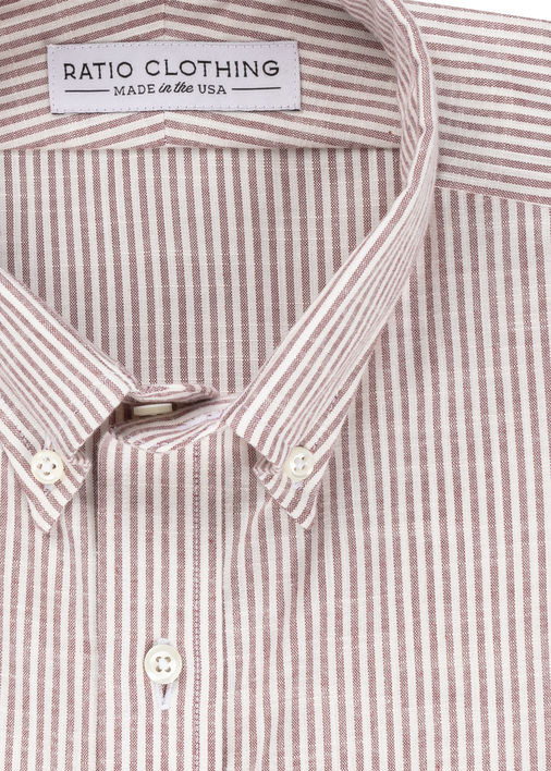 Image for Burgundy Candy Stripe Brushed Oxford
