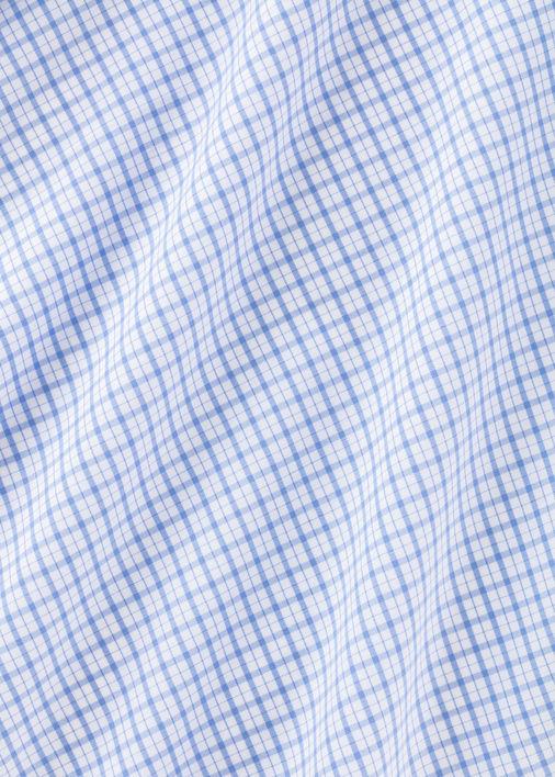 Light Blue Check Four-Way Stretch Product Image 4