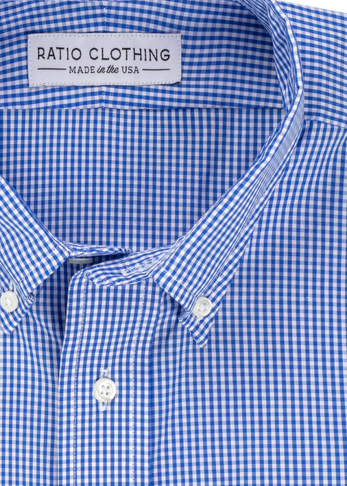 Image for Royal Blue Mini-Gingham