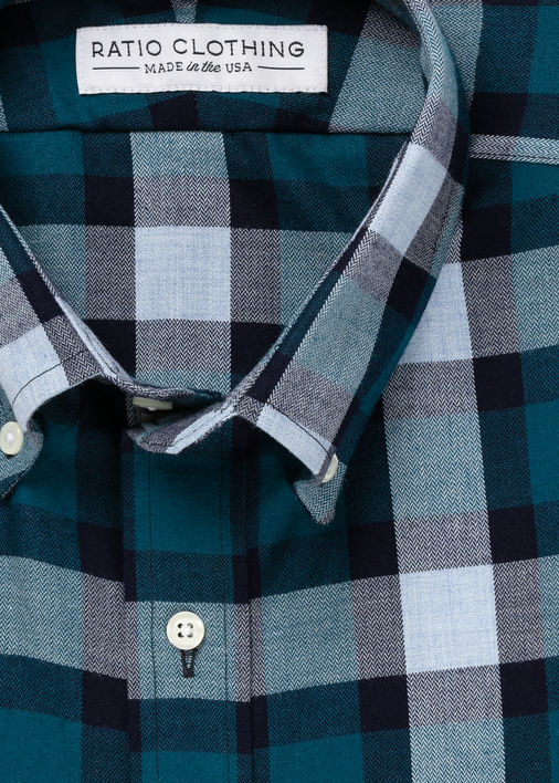 Image for Teal Willem Flannel