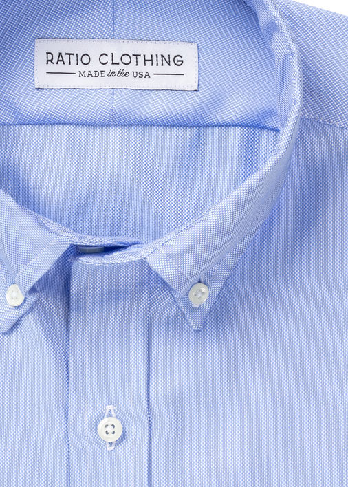 Image for Light Blue Non-Iron Oxford