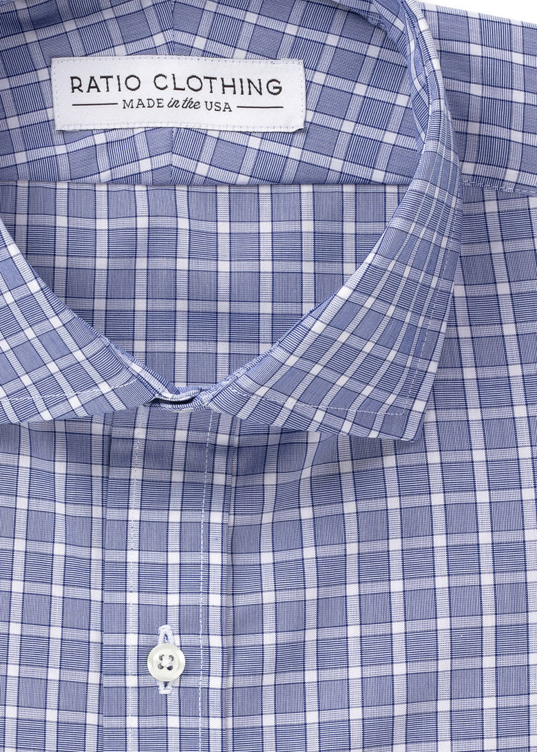 Blue Penn Traveler Poplin