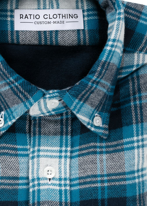 Image for Blue Double-Face Flannel