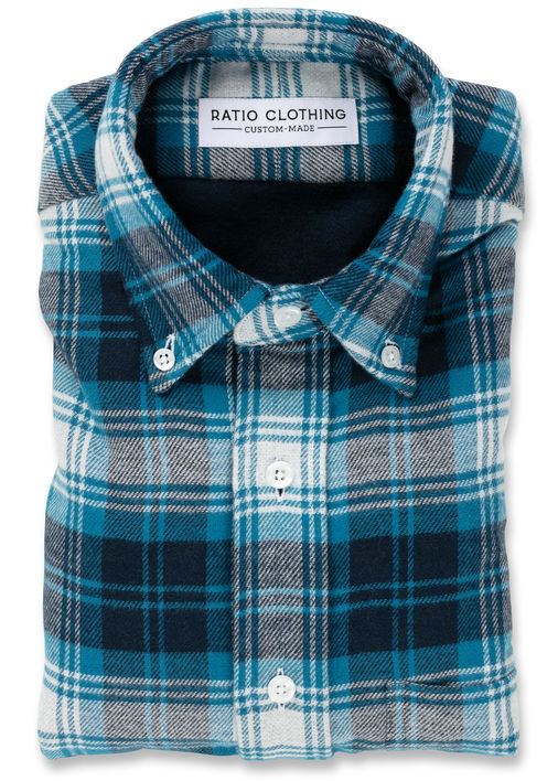 Blue Double-Face Flannel Product Image 3
