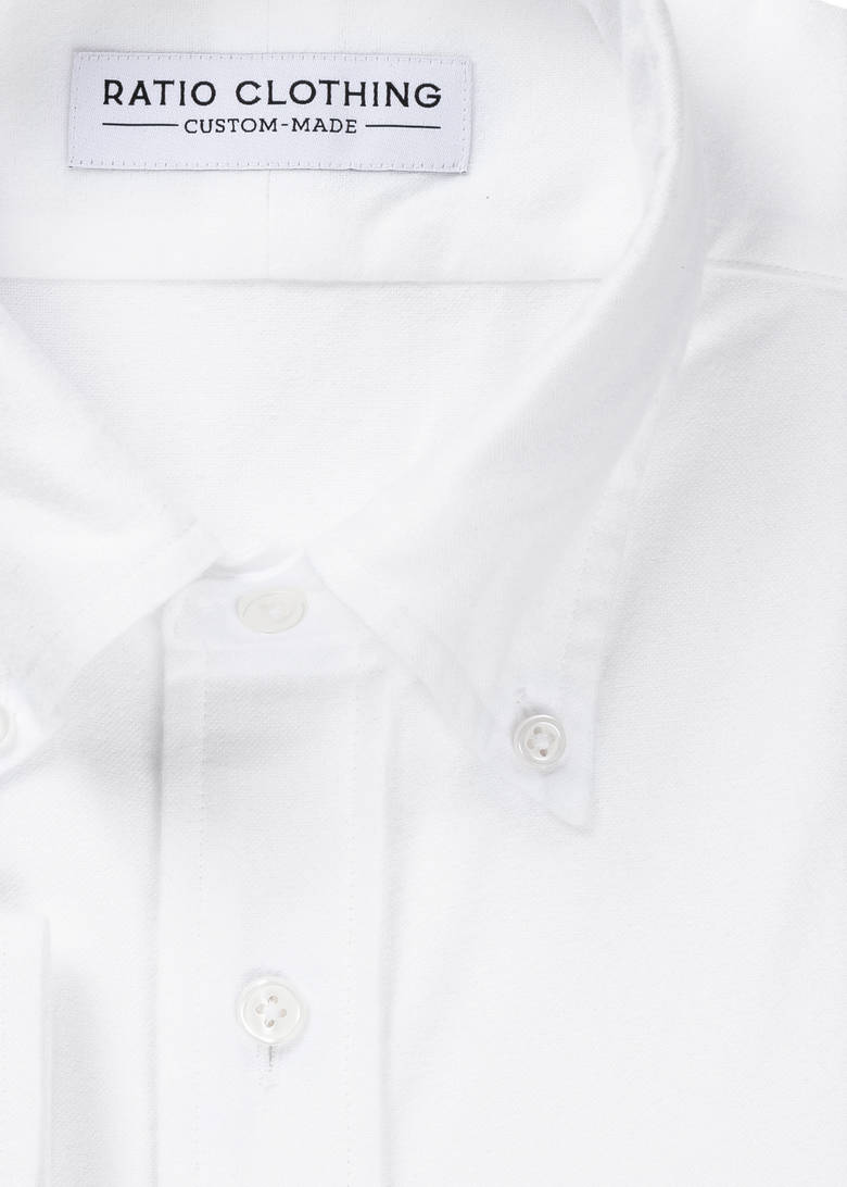 White Brushed Oxford Product Image 2