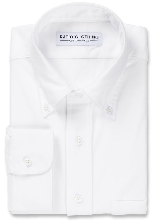 White Brushed Oxford Product Image 3