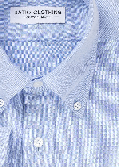 Image for Light Blue Brushed Oxford