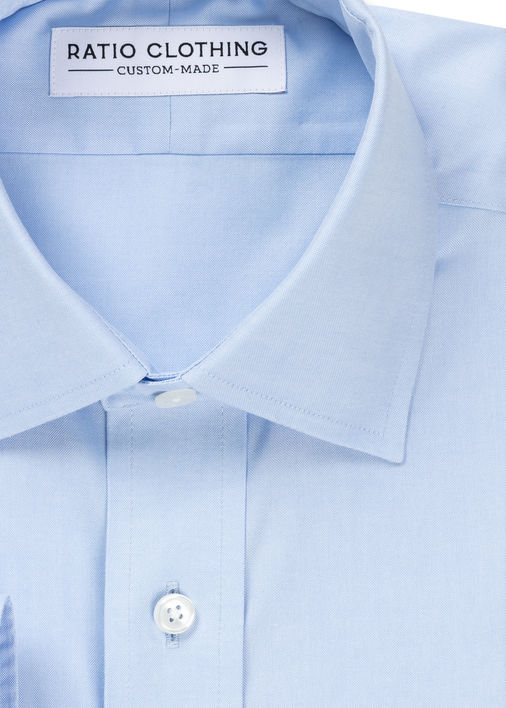 Image for Light Blue Non-Iron Classic Pinpoint