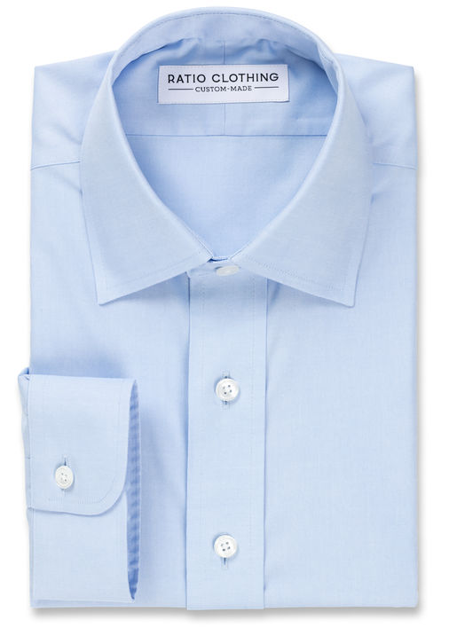 Light Blue Non-Iron Classic Pinpoint Product Image 3